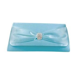 Light Blue Handbag, Something Blue, Wedding Clutch, Bridal Handbag, Bridal Purse, Tiffany Blue Bag, Bridesmaids, Mother of the Bride Groom