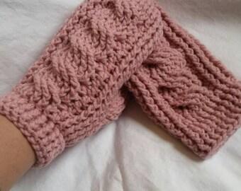 Mittens, cable mittens, crochet mittens, winter accessories, teen mittens, adult womens mittens, winter mittens, handmade mittens