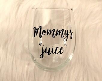 Mommy's Juice Stemless Wine Glass