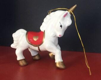 1980's Unicorn Figurine Ornament