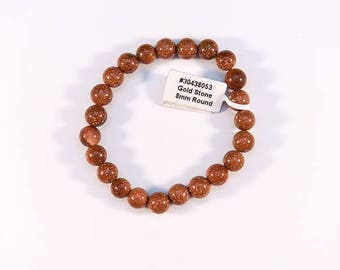 Simple Red Goldstone Bracelet.