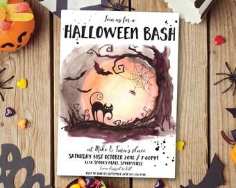 Halloween invitation, Halloween party invitation, Halloween wedding invitation, Halloween shower invitation, Halloween printable (Tara2)