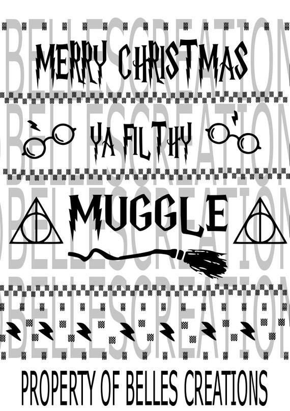 merry christmas ya filthy muggle svg