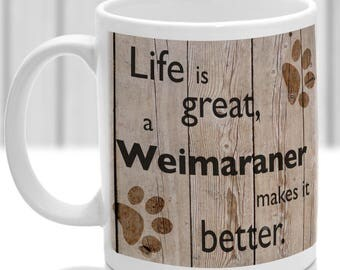 Weimaraner Mug Weimaraner Gift, dog breed mug, ideal present for dog lover