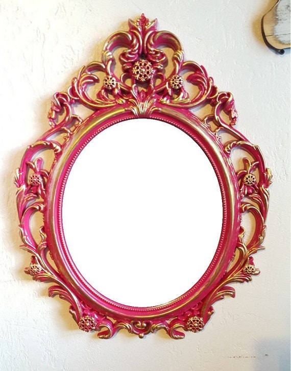 baroque mirror ornate mirror pink nursery mirror large wall
