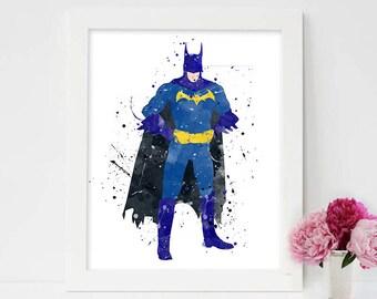 Spiderman Poster, Superman Poster, Robin, Batman nursery, spiderman batman, spidermanart,superman watercolor,spiderman art,superman wall art