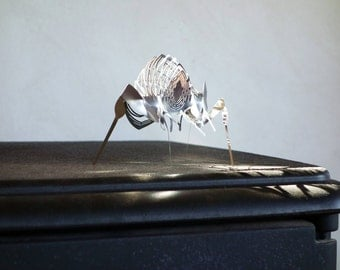 Bug table top sculpture, Minimalist, modern Metal Artwork, Pair of 2 PCs, by Expand Life
