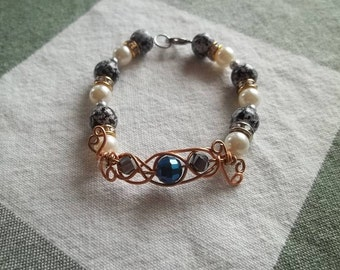 Wire weaved bracelet