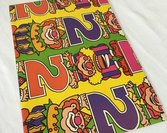 Vintage | Colourful | Clown | 2nd Birthday | Wrapping Paper