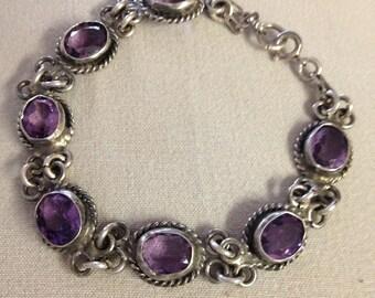 Sterling Amethyst Bracelet
