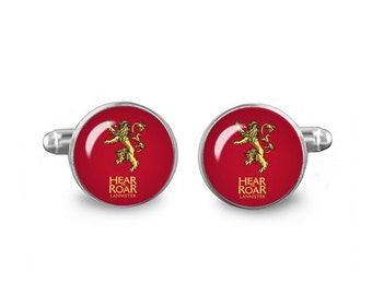 Game of Thrones Cuff Links House Lannister Cuff Links 16mm Cufflinks Gift for Men Groomsmen Novelty Cuff links Fandom Jewelry