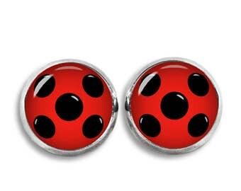 Ladybug Stud Earrings Ladybug Wings Earrings Fandom Jewelry  Cosplay Fangirl Fanboy