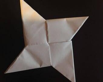Blank Ninja Star for Kids