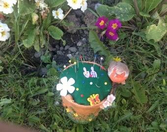 Cottage garden pin cushion