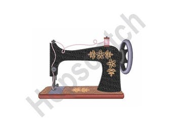 Antique Sewing Machine - Machine Embroidery Design