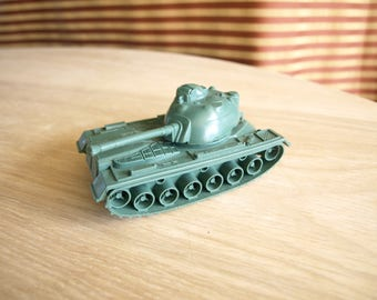 Vintage Green Toy Plastic Tank