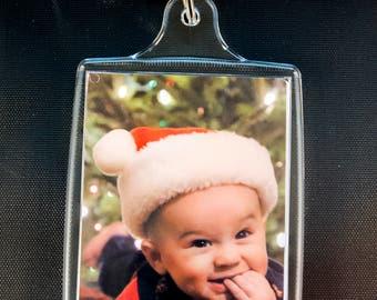 """Ten Personalized Photo Keychains 2.75"""" X 1.75"""" Custom Photos"""