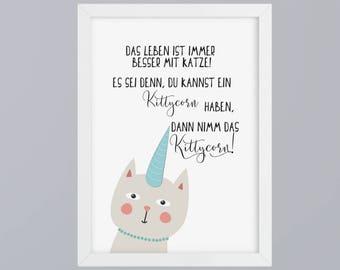 Kittycorn - unframed art print