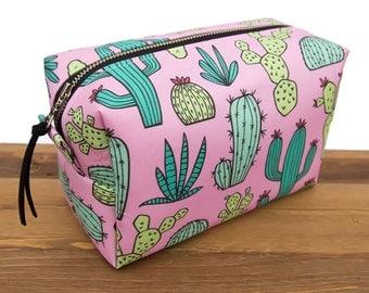 Cactus Makeup Bag - Cactus Gift - Cactus Bag - Make Up Bag - Makeup Storage - Makeup Brush Bag - Succulent - Cacti - Toiletry Bag #10