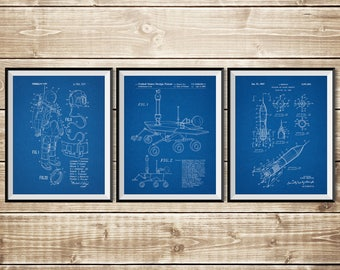 Space Nursery, Patent Print Group, Rocket Wall Decor, NASA Poster, Patent Print Set, Space Wall Art, Outer Space Poster, INSTANT DOWNLOAD
