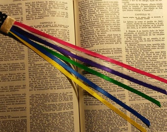 Unique multi page for bible, multi page ribbon bookmark for bible and books - handmade