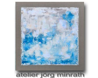 Original - painting on wood frame - 100 x 100 x 2 cm - modern abstract painting - contemporary art - unique