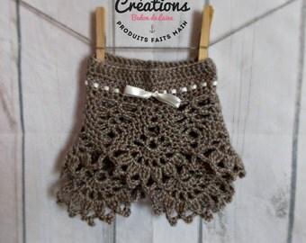 Anya's skirt, crochet baby skirt, lace skirt, shooting photo props, handmade, little girl, toddler, ribbon, bow, newborn, yarn, shower gift