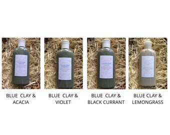 Set of Natural organic oil shampoos with clay for oily and dry hair, 4 types x 1 Oz (Total 4 Oz)