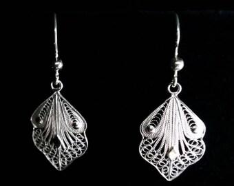 Filigree Earrings Cordoba, Sterling Silver Earrings, Filigree Jewelry, Filigrana Cordobesa, Silver Filigree, Light Earrings, Gift Idea
