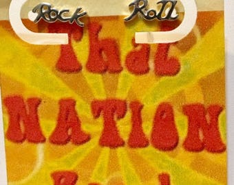 That NATION Band  Sterling Silver Rock and Roll Earrings