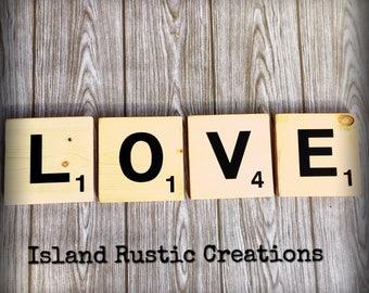 LOVE • Scrabble Wall Tiles • Home Decor
