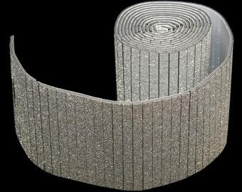 "Glittery Silver Bling Wrap Ribbon 2"" x 36"""
