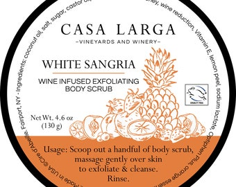 Casa Larga White Sangria wine infused Body Scrub by Cire d'Abeille™