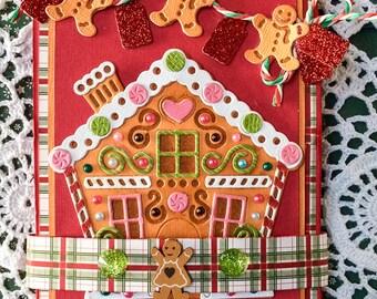 Carte pop up twist faite main .Carte Noel