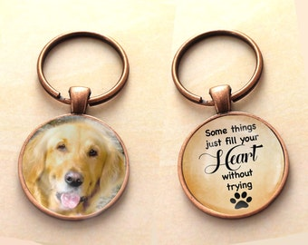 Custom Pet Key chain, Dog keychain, Double Sided, Reversible, Photo Pet Charm, Pet Charm, Pet Memorial