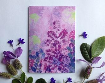 Printable greeting card, Nasturtiums, Corokia Studio botanical design