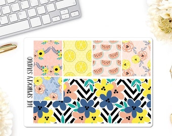 Sunny Days Washi Sheet Planner Stickers
