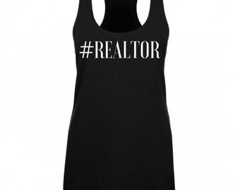 Hashtag Realtor   Real Estate   Real Estate Shirt   Realtor Shirt   Closing Gift   Thank You Gift   Promotional   Tank Top   Gym Tank