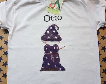 wizard boy personalised t shirt