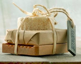 SOAP mini GIFT SET of One Bar~Valentine's gift-wedding soap gift-anniversary gift-organic soap gift-valentine's day gift-graduation gift