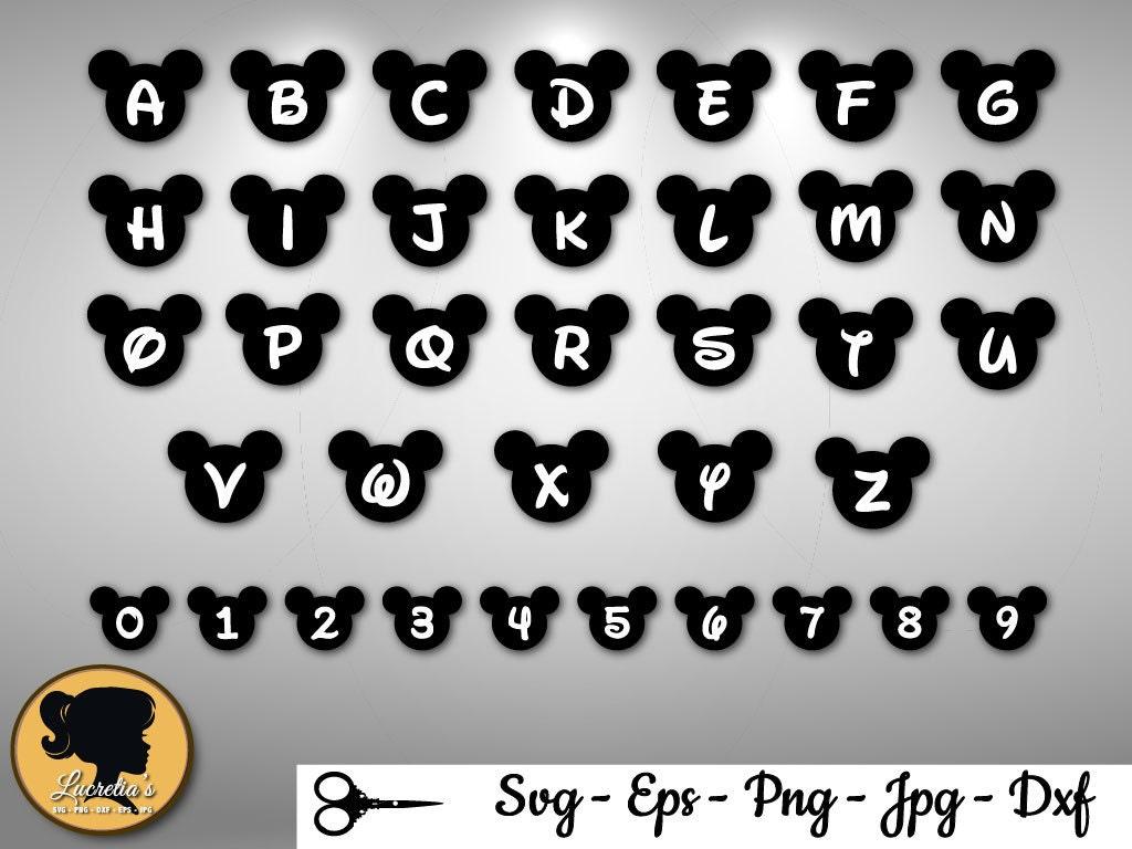 mickey mouse alphabet mickey head font svg disney font. Black Bedroom Furniture Sets. Home Design Ideas