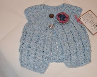 6 - 12 Months Girls' Light Blue Cardigan