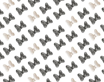 """New Disney Minnie Bow Black and Carbon Metallic Champagne by Camelot 100% Cotton Fabric by the yard 36""""x43"""" (CA6)"""