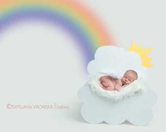 Newborn Digital Backdrop, newborn cloud, Digital Backdrops for newborn photography, newborn prop