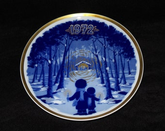 "1972 Santa Clara Annual Christmas ""Children in the Woods - Christmas 1972"" Christmas Plate"