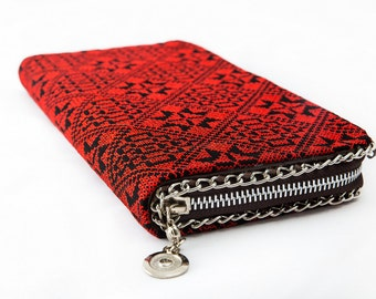 Ladies Purse with Palestinian Embroidery