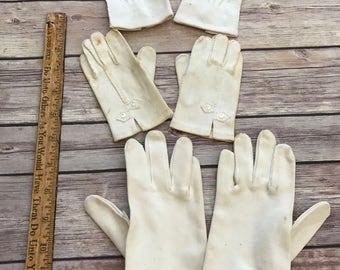 3 pairs of Vintage Children's Gloves