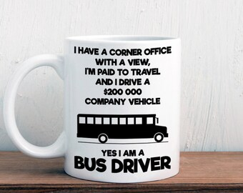 Funny bus driver mug, makes a great gift (M430)