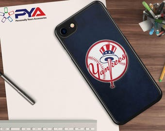 NY Yankees Leather Look Phone Case perfect gift for anyone who loves MLB - for Apple iPhone & iTouch Devices