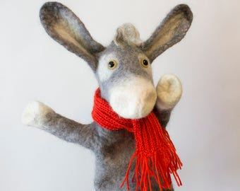 The donkey hand puppet